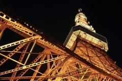 Tokyo-Kontrollturm nachts Lizenzfreies Stockfoto