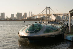 Tokyo kryssningfartyg på Odaiba, Tokyo Arkivbilder