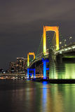 Tokyo landmarks,Tokyo Rainbow bridge in Japan Royalty Free Stock Photos
