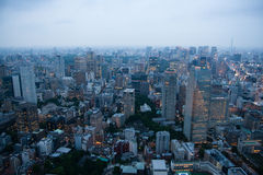 Tokyo lights. Tokyo cityscape as the sun sets and the lights come on Royalty Free Stock Images