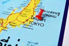 Tokyo map Royalty Free Stock Photos