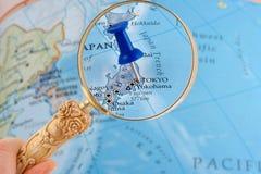 Tokyo map tack Royalty Free Stock Photo