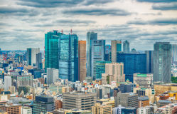 TOKYO - MAY 2016: Aerial view of city skyline. Tokyo attracts 15 Stock Image