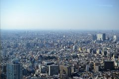 Tokyo, mega city from birdeye perspective, from above JAPAN stock photography