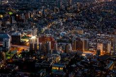 Tokyo Metropolis business buildings neon light Royalty Free Stock Images