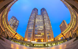 Tokyo metropolitan government building. View of Tokyo metropolitan government building at evening Stock Image