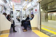 Tokyo-Metrozug lizenzfreies stockbild
