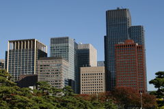 Tokyo modern building Royalty Free Stock Images