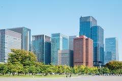 Tokyo modern building under blue sky. Japan city Tokyo modern building under blue sky Royalty Free Stock Photo