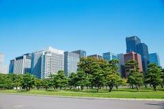 Tokyo modern building under blue sky. Japan city Tokyo modern building under blue sky Stock Image
