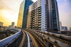 Tokyo from the Monorail Stock Photos