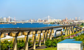 Tokyo Monorail line at Haneda International Airport Stock Photography