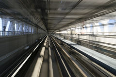 Tokyo Monorail Railway Tunnel Royalty Free Stock Images