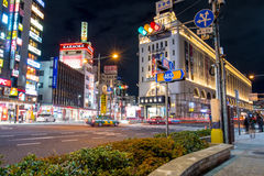 Tokyo-Nacht Stockfotografie