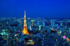 Tokyo-Nacht Stockfoto