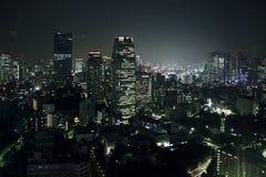 Tokyo-Nachtansicht Lizenzfreie Stockfotos