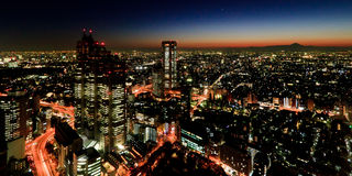 Tokyo nachts stockfoto