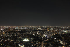 Tokyo nattsikt Royaltyfri Fotografi
