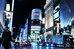 Tokyo by night royalty free stock photos