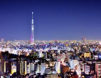 Tokyo Night Royalty Free Stock Images