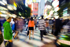 Tokyo Night Crowed Shopping District Concept Stock Image