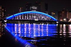 Tokyo at night - Eitai bashi bridge Stock Image