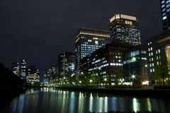 Tokyo night Japan. Night scene of Tokyo near Imperial Palace Royalty Free Stock Photography