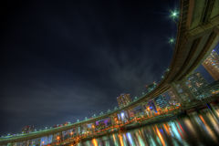 Tokyo night landscape HDR Stock Photos