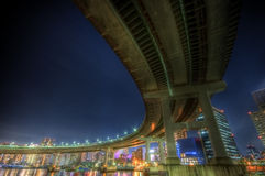 Tokyo night landscape HDR Royalty Free Stock Images