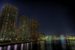 Tokyo night landscape HDR Royalty Free Stock Photos