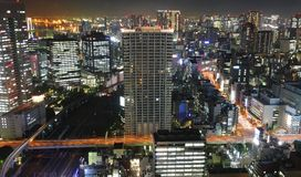 Tokyo at night panorama Stock Photography