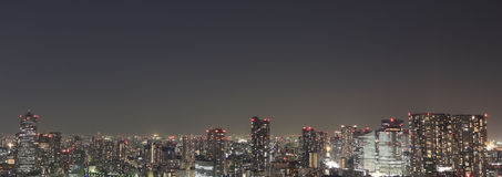Tokyo at night panorama Stock Images