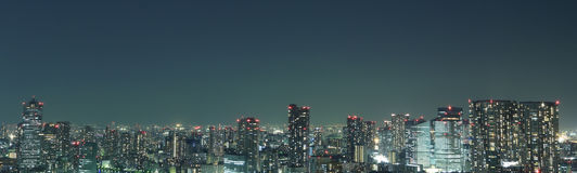 Tokyo at night panorama Royalty Free Stock Image