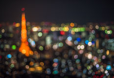 Tokyo night scene, defocused background Stock Image