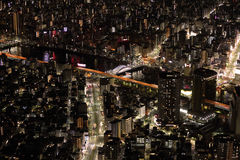 Tokyo night scene. The famous night scene in Tokyo Stock Photo