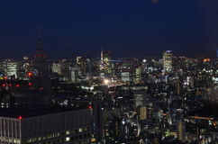 Tokyo night scene. From observatory deck Royalty Free Stock Photo