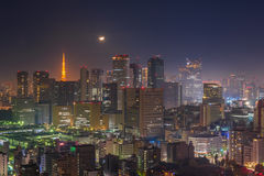 Tokyo night scene, panoramic view Royalty Free Stock Image