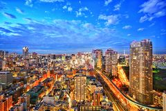 Tokyo before night view city landscape. Stock Photos