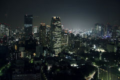 Tokyo night view Royalty Free Stock Photos