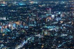 Tokyo night view from metropolitan government office Royalty Free Stock Photography