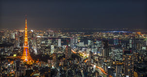 Tokyo by night Royalty Free Stock Photography
