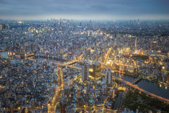 Tokyo nightscape Stock Photography