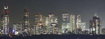 Tokyo no panorama da noite imagens de stock royalty free