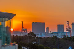 Tokyo no por do sol imagem de stock