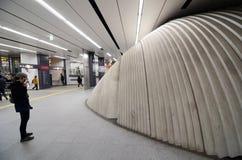 TOKYO - 23 NOV.: Beeldhouwwerk in Shibuya-post Royalty-vrije Stock Foto's