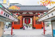 TOKYO-NOV 16: Crowded people at Buddhist Temple Sensoji on Novem Royalty Free Stock Image