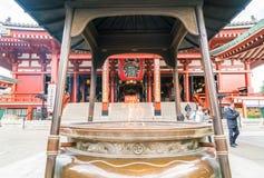 TOKYO-NOV 16: Crowded people at Buddhist Temple Sensoji on Novem Stock Photography