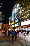 TOKYO - NOV 21: People visit Akihabara shopping area on November Royalty Free Stock Photos