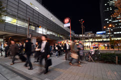 TOKYO - NOV 21: People visit Akihabara shopping area on November Stock Photography