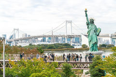 TOKYO - November 16 2016: A crowd of tourists and locals enjoy t Royalty Free Stock Photography